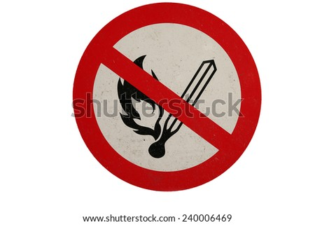 No smoking sign / symbol. Isolated on a white background. - stock photo