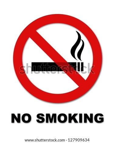 No Smoking Symbol Text On White Stock Illustration 127909634