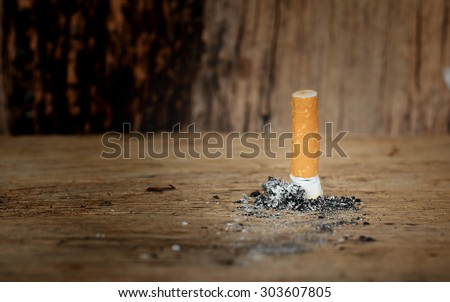 No Smoking,To yourself to your surroundings better - stock photo