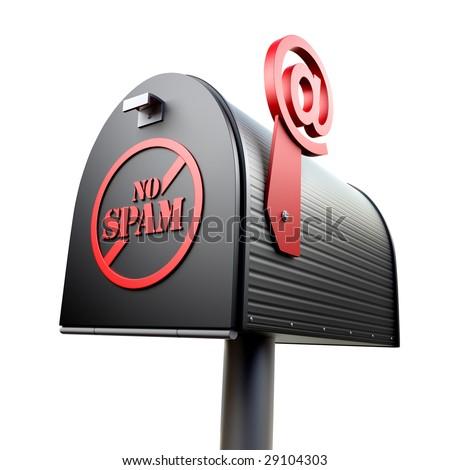 No Spam mailbox - stock photo