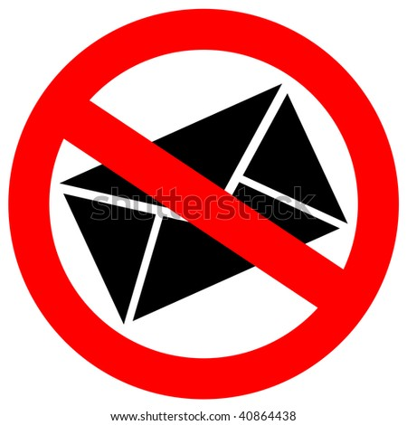 No spam sign - stock photo