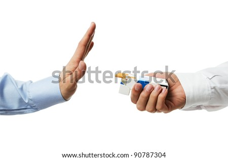 No thanks! Quit smoking concept - stock photo