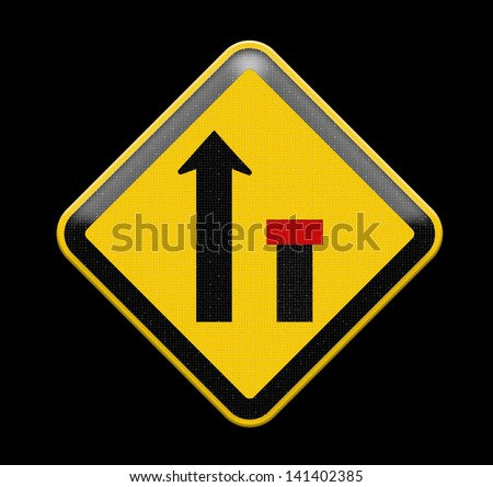 no through road sign,way closed left, Part of a series. - stock photo