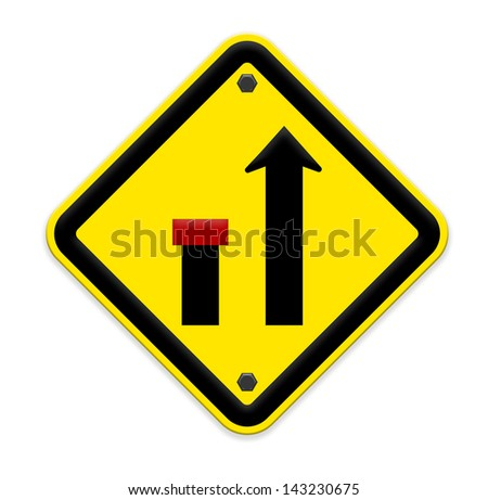 no through road sign,way closed left,part of a series. - stock photo