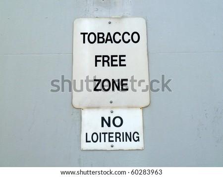 No Tobacco Zone - stock photo