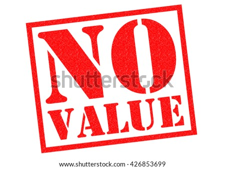 NO VALUE red Rubber Stamp over a white background. - stock photo