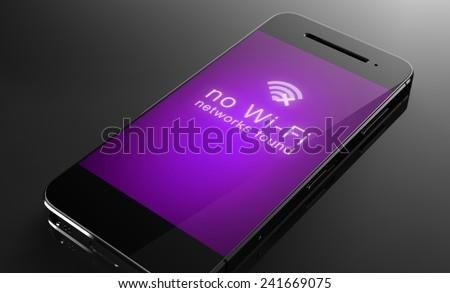 No Wi-fi signal - stock photo