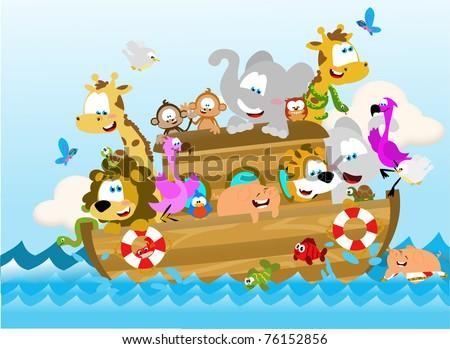Noah's ark - stock photo