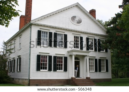 "Noah Webster House at ""Greenfield Village"", - stock photo"