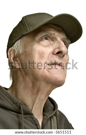 Noble beauty elderly men-purposefulnesses and strong character - stock photo