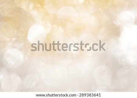 Noble Bokeh of Silver and Gold