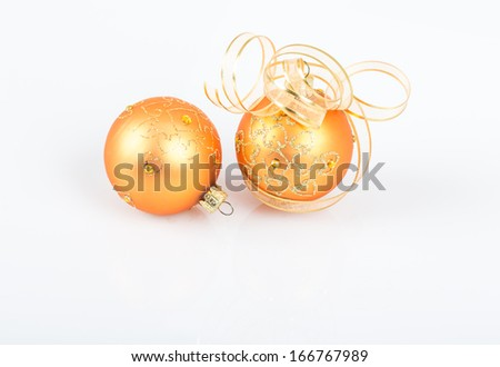 noel ornaments on white