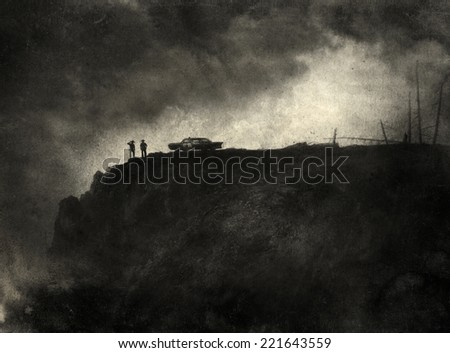 Noir Scene - stock photo
