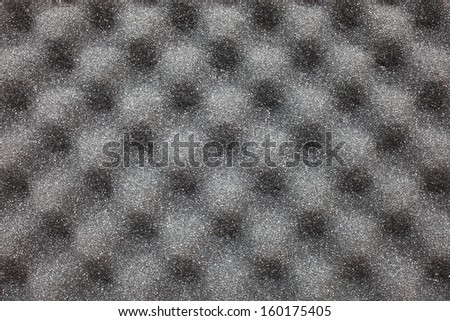 noise absorbing foam material - stock photo