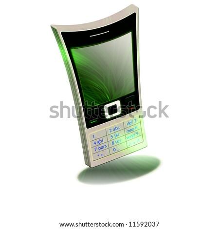 Nokia mobile phone white background - stock photo