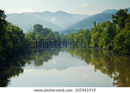 Nolichucky River with Embreeville Mountain