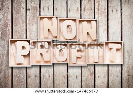 Non profit wood word style - stock photo