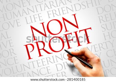Non Profit word cloud concept - stock photo