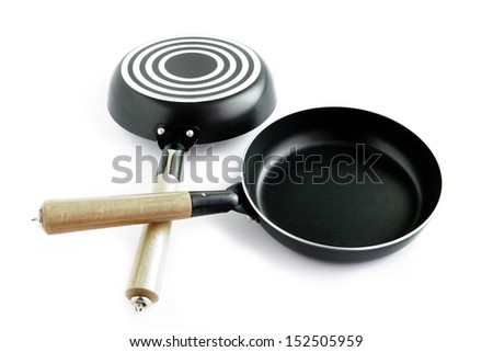 Non-stick frying pans - stock photo