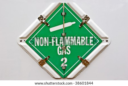 Nonflammable - stock photo