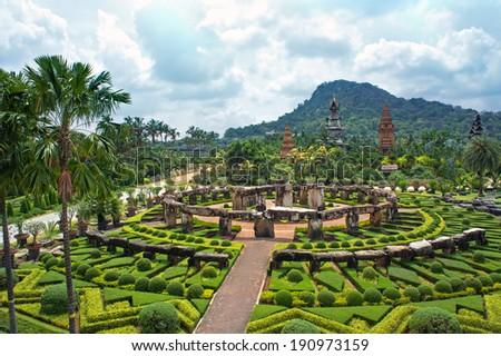 Nong Nooch Tropical Botanical Garden, Pattaya, Thailand - stock photo