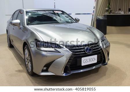NONTABURI, THAILAND - 23 MAR :Lexus GS300h Executive Edition showed in Thailand the 37th Bangkok International Motor Show on 23 March 2016 - stock photo