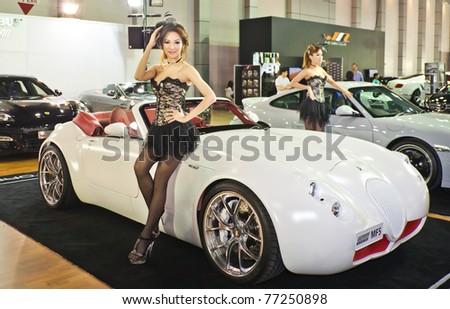 NONTABURITHAILANDMAY 15 Maserati Sport Car On Display Stock Photo