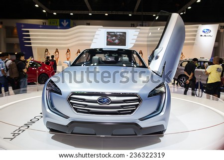 NONTHABURI - DECEMBER 4 :Subaru Viziv a  Vision for Innovation on display at MOTOR  EXPO 2014 on Dec 4,2014 in Nonthaburi,  Thailand.