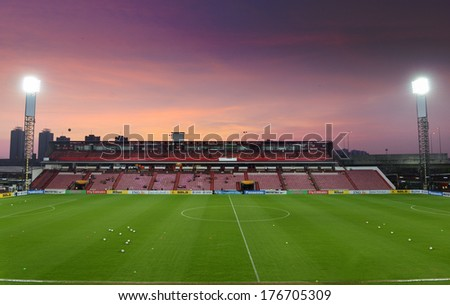 NONTHABURI-FEB 8:Panoramic views of SCG Stadium during football AFC Champions League 2014 between MTUTD and Hanoi T&T at SCG stadium on February8,2014 in Thailand