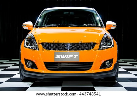 NONTHABURI - JUNE 22 : Suzuki Swift car on display at Bangkok International Auto Salon 2016 on June 22, 2016 in Nonthaburi, Thailand.