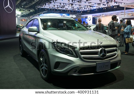NONTHABURI - MARCH 23: Interior Design of NEW Mercedes Benz GLA 200 urban on display at The 37th Bangkok International Motor show on MARCH 23, 2016 in Nonthaburi, Thailand.