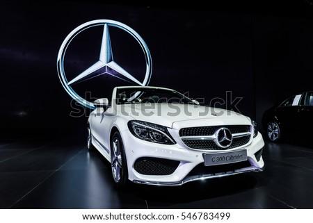 NONTHABURI - NOVEMBER 30 : The Mercedes Benz S 300 Cabriolet on display at Thailand International Motor Expo 2016 on December 8, 2016 in Nonthaburi, Thailand.