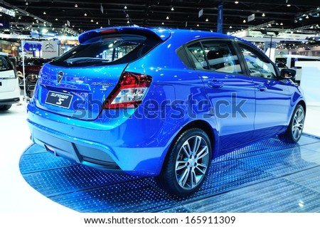 NONTHABURI - NOVEMBER 28: The new Proton Suprima S, City car, on display at The 30th Thailand International Motor Expo on November 28, 2013 in Nonthaburi, Thailand.