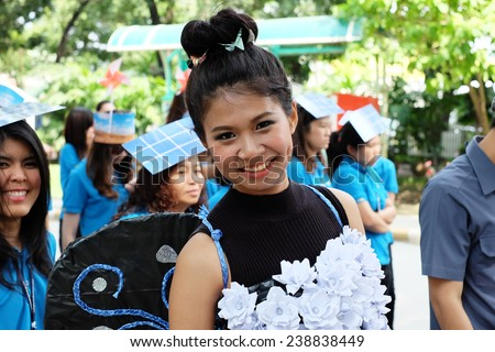 NONTHABURI -THAILAND - December 17 : A parade and Show for sporting day of the Electricity Generating Authority of Thailand 2557 on December 17, 2014 Nonthaburi Province, Thailand.