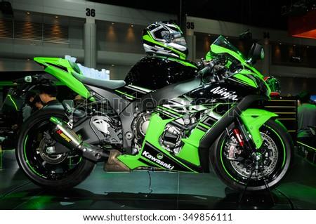 NONTHABURI, THAILAND   December 04: The Kawasaki Ninja ZX 10R Supersport Is  On