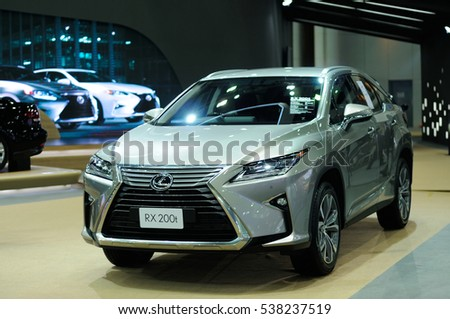 NONTHABURI, THAILAND - December 06: The Lexus RX 200t is on display at Thailand International Motor Expo 2016 on December 06, 2016 in Nonthaburi, Thailand.