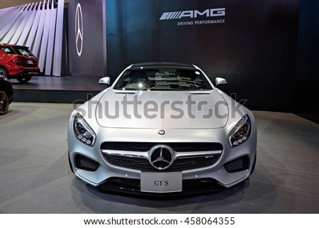 NONTHABURI, THAILAND - DECEMBER 1: The Mercedes Benz GTS is on display at the 32nd Thailand International Motor Expo 2015 on December 1, 2015 in Nonthaburi, Thailand.