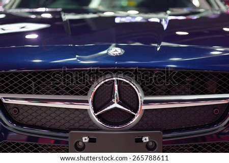 Nonthaburi,Thailand - March 24th, 2015: Benz automobile ,showed in Thailand the 36th Bangkok International Motor Show on 24 March 2015 - stock photo