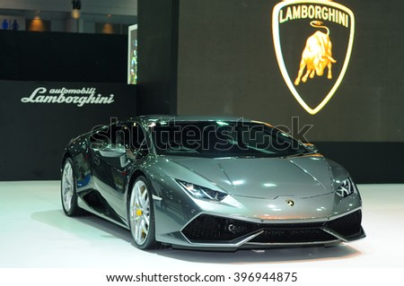 NONTHABURI, THAILAND   March 23: The Lamborghini Huracan Is On Display At  The 37th