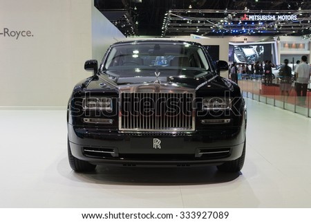 NONTHABURI, THAILAND - MARCH 30: The Rolls Royce Phantom is on display at the 36th Bangkok International Motor Show 2015 on March 30, 2015 in Nonthaburi, Thailand.
