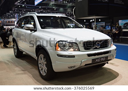 NONTHABURI, THAILAND - MARCH 24: The Volvo XC90 is on display at the 36th Bangkok International Motor Show 2015 on March 24, 2015 in Nonthaburi, Thailand.