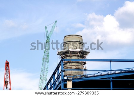 NONTHABURI-THAILAND -NOVEMBER 10 : Construction of EGAT's North Bangkok gas combine cycle power plant 800 MW on November 10, 2014 in Nonthaburi, Thailand