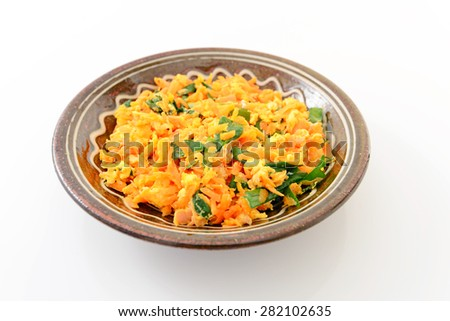 noodle- Okinawan cuisine - stock photo