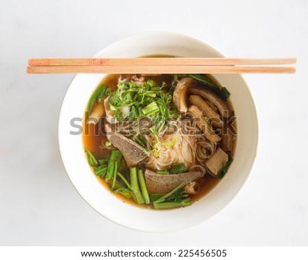 Noodle , Thai Noodle , Thai Noodle meat. - stock photo