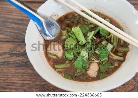 Noodle , Thai Noodle , Thai Noodle meat . Thai Noodle thin line  - stock photo