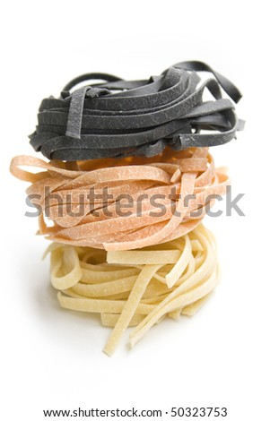 noodles isolated on white - stock photo
