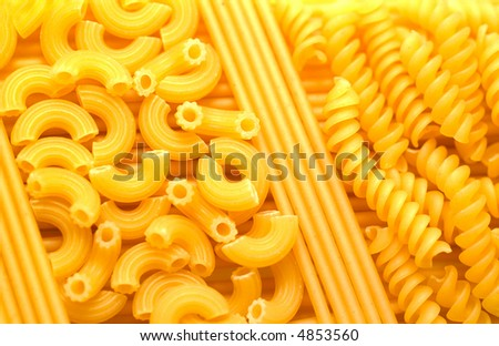 Noodles prepared for boiling