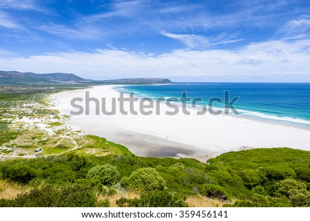 Noordehoek white beach Cape Town South Africa - stock photo