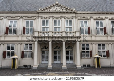 Noordeinde Palace (1533) is one of the three official palaces of the Dutch royal family. Located in The Hague, South Holland.