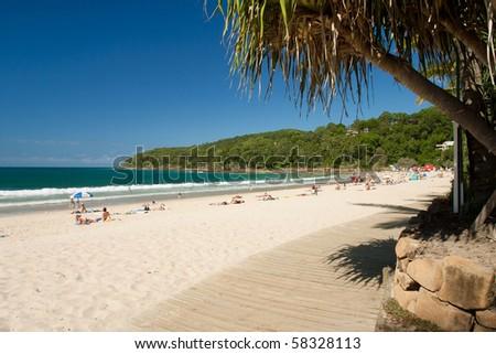 Noosa Beach Queensland - stock photo